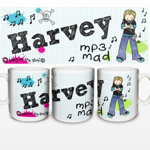 Personalised Bang on the Door MP3 Mad Mug